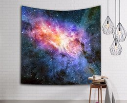 prints wall hangings Promo Codes - Amazing Night Starry Sky Star Tapestry 3D Printed Wall Hanging Picture Tapestry Bohemian Beach Towel Table Cloth Blanket Top Quality 111