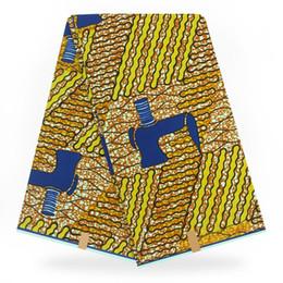 Farbic con estampado de cera africana en telas de algodón estampado con cera suave ankara 2019, las últimas hollandais para mujer visten 6 yardas desde fabricantes