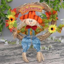 2019 decorações para festa de jardim 1pc de suspensão do espantalho Ornamento Espantalho grinalda Para Garden Home Halloween Party Escola Hanging Decoração Pingente A3 decorações para festa de jardim barato