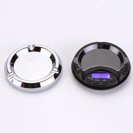 Mini ceniceros de bolsillo online-Mini cenicero bolsillo portátil joyería escala 0.01 g 0.1 g escala electrónica escala de oro