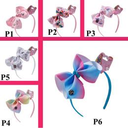 2019 sirenas arcoiris JOJO SIWA arcos para el cabello Niña brochas Rainbow Mermaid Unicorn Design Girl Clippers diadema Niñas Pinzas para el cabello Accesorios para el cabello del bebé Opciones múltiples rebajas sirenas arcoiris