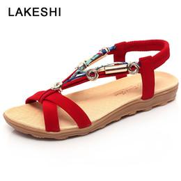 eca3d742deba7 QUANZIXUAN Bohemian Peep Toe Women Sandals Summer Beach Sandals Women Flat  Shoes Fashion Slip On Ladies 2018 Shoes