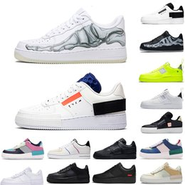 Tipo de las mujeres de origen animal online-Nike air force 1 forces shoes  Dunk 1 Utility Classic Nero Bianco Uomo Donna Casual Scarpe rosso Arancione Sport Skateboard High Low Cut Wheat Sneakers Sneakers 5.5-11