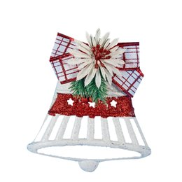 candele vuote Sconti Hollow Bell con Candela immagine Pendente albero di Natale a sospensione mestiere natale Xmas Tree Decor Gifts orname