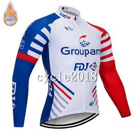 2019 equipo ciclista fdj 2019 FDJ FELT equipo masculino Ciclismo Winter Thermal Fleece jersey Aire libre Tops deportivos Ropa de manga larga hombre Ropa de ciclismo rebajas equipo ciclista fdj