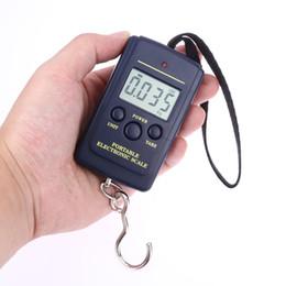 Cucina bilancia gancio online-Mini Bilancia digitale per pescherecci da viaggio Pesa di pesatura Stadera appesa bilancia elettronica a gancio, attrezzo da cucina da cucina 40kg x 10g