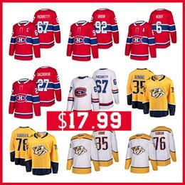 2019 drouin jersey Nashville predadores 35 Pekka Rinne 76 P.K. Subban 92 Jonathan Drouin 27 Alex Galchenyuk 67 Max Pacioretty Montreal Canadiens Hockey Jerseys drouin jersey barato