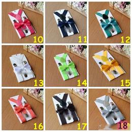26 cores Suspensórios crianças Bow Tie Set para 1-10T bebê Suspensórios Elastic Y-back Meninos Meninas Suspensórios Acessórios de
