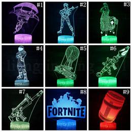 Fortnite настольная лампа настроение лампа 7 цвет света трещины шаблон базы прохладный ночной свет для Рождественский подарок от Поставщики энергетическая обувь