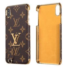 Vintage galvanização pc phone case para iphone x xs max xr 8 7 6 6 s plus moda pele shell capa pu casos de couro de Fornecedores de perfil do telefone