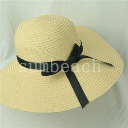 sombrero de vaquero de paja de papel Rebajas Sombrero de paja del verano de 2020 casquillos al por mayor de las mujeres sombreros de vaquero Panamá sombreros de paja de ala ancha para deportes al aire libre Sombreros