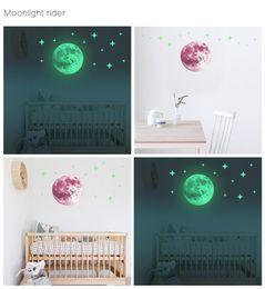 adesivo della terra Sconti 12 stili 30cm luna luminosa adesivi murali terra per camera da letto per bambini Decorazione designer di lusso decorazioni per la casa immagini d'arte Wallpaper dipinti