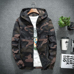 camo stile Rabatt Mens Deaigner Jacken Fashion Camo Pattern Hoodies Luxus Casual Mens Kleidung Mens Thin Windbreaker 3 Styles asiatische Größe M-5XL Top-Qualität
