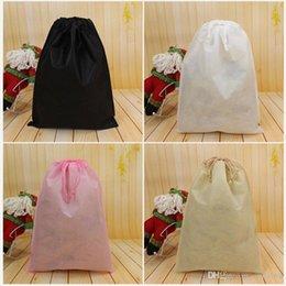 Saco de poeira de armazenamento não tecido para roupas sapatos de embalagem para bolsa de viagem diversos artigos armazenamento puxar corda organização sacos DHL NAVIO HH7-1222 de Fornecedores de saco de pó roupa