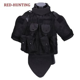 Ropa de armadura online-USMC OTV Chaleco táctico de camuflaje combate Armadura Con Bolsa / Cojín ACU Molle Portador de placa de asalto CS ropa