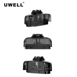 2019 atomizzatore inferiore alimentatore Uwell Amulet Pods Cartridges 2.0ml 1.6ohm Testine di ricambio ricaricabili per Amulet Sistema Pod Watch-Style Kit Vape 100% autentico