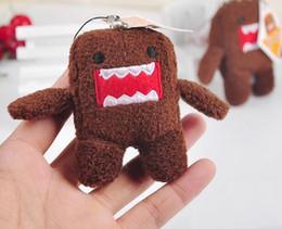 keyrings animais dos miúdos Desconto Stuffed Keyring Presentes Bonitos Domo Kun Chaveiro Plush Toy Boneca de Pelúcia Brinquedos de Pelúcia Animais 7 cm Bebê Crianças Telefone Chaveiro DHL Livre