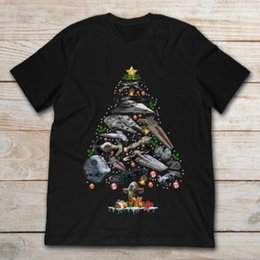 ac50016eac5 Stars War Death Star UFOs Christmas Tree T-shirt A154 men tops tees Casual  male tshirt Free shipping tees