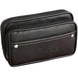Brauner handybeutel online-Gürteltasche Handy Taschen Schwarz Braun Reißverschluss Geldbörse Mens Pouch Geldbörsen Lässig Multifunktionale Taille Pack Mann Brieftasche Tasche