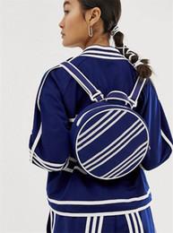 mochilas circulares Rebajas Diseñador Mochila Mini Bolsas para mujer Más vendidos Nueva llegada Rayas clásicas Estilo Negro Color azul Venta caliente Lindo Mochilas circulares Más nuevo