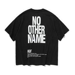 Impression urbaine en Ligne-Lettre Imprimé Tee 2019 Mode T-shirt Homme Urbain Eté T-shirt Coton Décontracté T-shirt Imprimé Surdimensionné