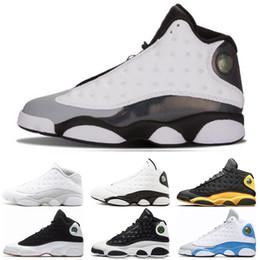 Nike air jordan 13 13s Bon marché 13 13s Hommes Chaussures de Basketball Italie Bleu classe melo de 2003 Pure Money Black Cat élevé Flint baskets taille 7 ? partir de fabricateur