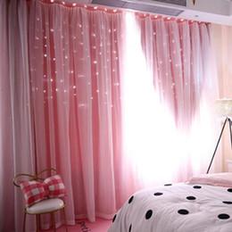 Ausgehöhlt Stern Schattierung Fenster Blackout Vorhang Vorhänge Purdah für  Wohnzimmer Prinzessin Kinderzimmer Baby Kinderzimmer Vorhang D19011506