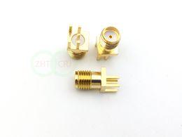 Conector hembra SMA dorado conector PCB clip de montaje en borde borde RF adaptador desde fabricantes