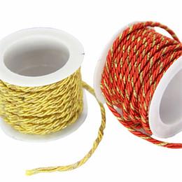 2019 decorações diy do casamento da corda 3 M / Roll Fio de Ouro Branqueada DIY Artesanato Cordas de Casamento Decorações Do Partido de Aniversário Cor Corda de Embrulho Corda Pendurar Tag Corda 3 MM desconto decorações diy do casamento da corda