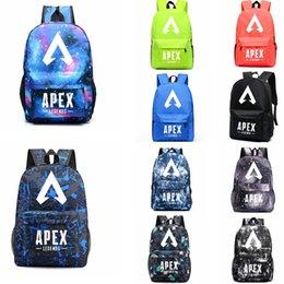 Sac à dos de compression en Ligne-Apex legends backpack Glowing in Dark Respawn sac à dos Nouveau sac d'école de héros Jeu sac à dos Luminous Storage Sport Outdoor sacs AAA1864