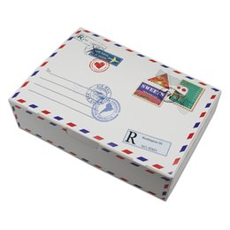 20 Unids 21 * 14 * 5 cm Diseño de Patrón de Sobre Caja de Embalaje de Papel Kraft Supermercados Minoristas Artesanía Postal Caja de Embalaje de Papel de Cartón desde fabricantes