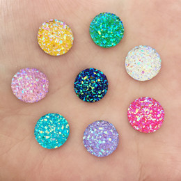 UK/_ 40pcs 12mm Round AB Resin Flatback Scrapbooking for Phone//Wedding Craft Reli