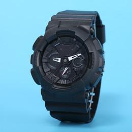 orologi da polso digitali Sconti Vigilanza degli uomini GA110 del quarzo di sport all'aperto impermeabile e antiurto di Digital LED tutte le mani possono azionare DZ7333