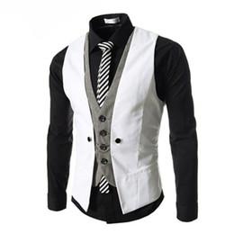2019 britische mode männer weste Marke Mode Sleeveless Jacke Weste Männer Anzug Weste Männlichen Britischen Stil Dünne Baumwolle einreiher Vintage Westen günstig britische mode männer weste