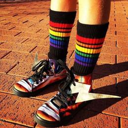 Calze calde delle ginocchia delle ragazze calde online-Fantastici bambini Sport Long Socks Ins Hot Girls Calzini Soccer For Baby Girl Over Knee High Sock Baseball Hockey 1-15Y