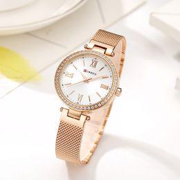 CURREN Rose Gold Watch Women Watches Ladies Stainless Steel Women s Bracelet Watches Female Relogio Feminino Montre Femme 9011 LY191205