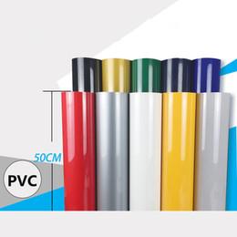 film de papier noir Promotion Papier de transfert de chaleur multi de presse de chaleur de film de vinyle de transfert de chaleur de PVC de couleur pour l'habillement 50cm x 80cm