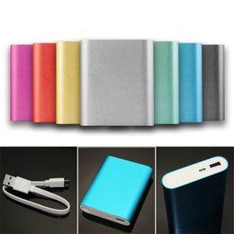 banco de energia menor Desconto Carregador de energia de backup banco de alimentação 10400mAh Universal bateria externa para iPhone Samsung Celular Tablet 50pcs / até