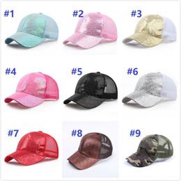 a6e560d28e03a trucking hats Coupons - Glitter Ponytail breathable mesh baseball cap men s  ladies bag summer truck Gorras
