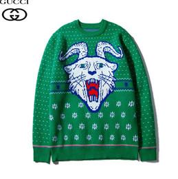 jersey verde de invierno xxl Rebajas 2019 nuevos hombres y mujeres con el mismo suéter eleganteGGotoño e invierno nueva camiseta verde cuello redondo top M-XXL