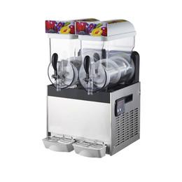 máquinas de neve Desconto Máquina de derretimento da neve da máquina de gelo da bebida da máquina 220V / 110V da lama 15L 3 tanques do fabricante comercial da lama