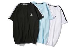 2019 nuove t-shirt d'onda Playboy T-shirt nuova parola onda gioielli cravatta camicia in jersey di marca cuciture lusso SS standard di abbigliamento di moda di vendita calda nuove t-shirt d'onda economici