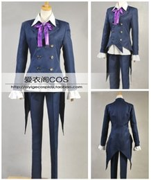 cosplay manga Coupons - Pandora Hearts Leo Baskerville Clan Suits Uniform Outfit Anime Manga Cosplay Costume H028