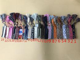 grossistas pulseiras magnéticas para homens Desconto 26 cores de Moda JDIIORR Jóias Para As Mulheres de Algodão Carta Assinatura tecido sinal logotipo Pulseira De Tecido Pulseira Borla Lace-up Pulseira