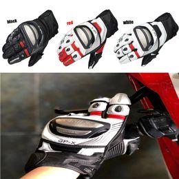 titan motorrad handschuhe Rabatt Motorradhandschuh Freies Verschiffen Titanium Motorrad Lokomotive Rennen wettbewerbsfähig Lederhandschuhe kurz