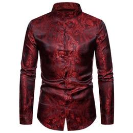 camisas de vestido dos homens da cópia do leopardo Desconto Mens Leopard Print Slim Fit Camisa Casual | 2019 primavera masculina camisa de manga longa homem hip hop streetwear plus 2xl