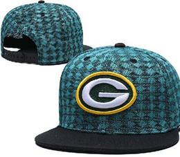 Дешевые зеленые шапки онлайн-Дешевые GREEN BAY шляпа GB Snapback Регулируемая шапка Шляпы Регулируемые шапки Любители всех команд Спортивные шапки Шляпа Популярные шапки Snapbacks на выходе