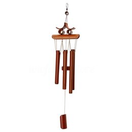 2x Handmade Bamboo Wind Chimes Wind Bell Home Garden Decor Butterfly /& Tubes
