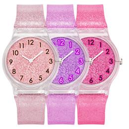 Relógio de plástico transparente on-line-2019 mulheres senhoras transparente brilho tendência da moda relógio cinta plástica assistir bandas estudantes suaves ocasional de lazer relógios de quartzo