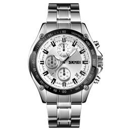 Часы из стали japan movt онлайн-SKMEI 1393 Япония movt часы из нержавеющей стали черный хронограф человек наручные часы relojes 2018